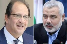 هنية يبحث مع وزير المخابرات المصرية آخر المستجدات