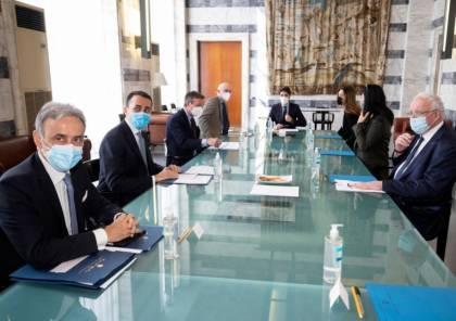 المالكي يلتقي وزير خارجية ايطاليا