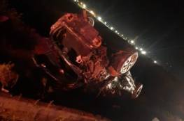 وفاة عامل واصابة 5 بجراح جراء انقلاب سيارة جنوب الخليل
