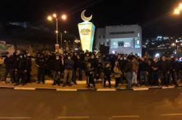 الشرطة الاسرائيلية تعتدي على مسيرة ضد العنف والجريمة في أم الفحم