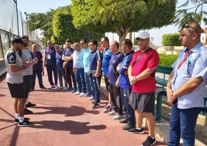 صور.. ملتقى مدربي غزة يبدأ المعايشة من بوابة الأهلي