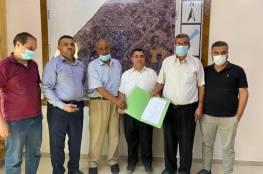 المجلس الأعلى وبلدية دير البلح يضعان حجر الأساس لمشروع توسعة مستشفى شهداء الأقصى
