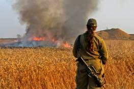 """اندلاع 8 حرائق في """"غلاف غزة"""" بفعل بالونات حارقة"""