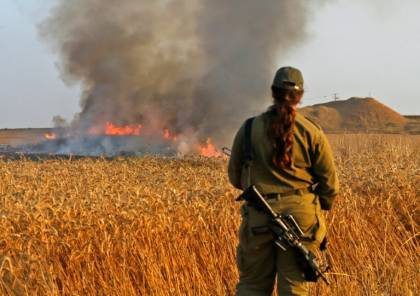 نشوب ثلاثة حرائق في مستوطنات غلاف غزة