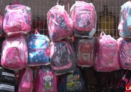 توزيع 2500 حقيبه مدرسية على مدارس وكالة الغوث في جنين