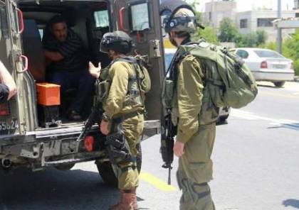 الاحتلال يعتقل 14 مواطنًا من الضفة