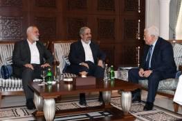 الرئيس يجتمع مع مشعل وهنية في الدوحة: يجب تحقيق المصالحة وإزالة أسباب الانقسام