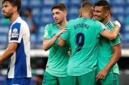 فيديو... ريال مدريد يحقق فوز ثمين أمام اسبانيول وينفرد بصدارة الليغا