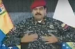 رئيس فنزويلا يُقلد صدام حسين وسط تصفيق الجمهور (فيديو)