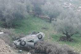 اصابة اربعة مواطنين خلال حادث سير ذاتي جنوب بيت لحم