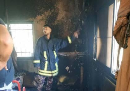السيطرة على حريق منزل بقباطية