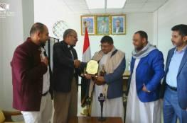 """ممثل حركة حماس باليمن يلتقي عضو بالمجلس السياسي الأعلى لـ """"أنصار الله"""""""