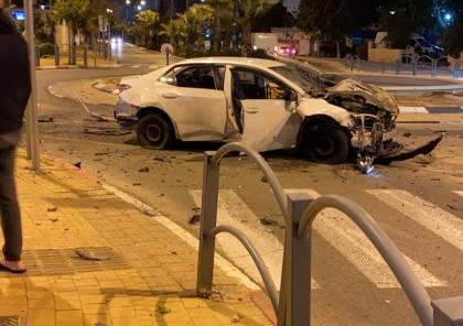 فيديو ..انفجار سيارة في ريشون لتسيون جنوب تل أبيب