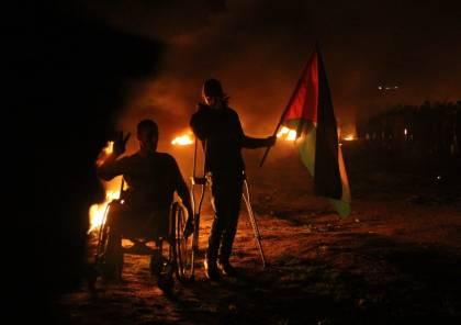 صور.. اصابة شاب برصاص الاحتلال في فعاليات وحدة الارباك الليلي شرق غزة