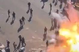 مشهد مروع لحظة التفجير الانتحاري الثاني في ساحة الطيران وسط بغداد..فيديو