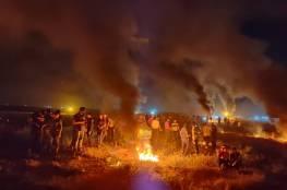 فعاليات الإرباك الليلي تعود مجددا على الحدود الشرقية لقطاع غزة