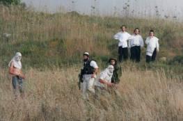 400 مستوطن يقتحمون خلة النحلة جنوب بيت لحم