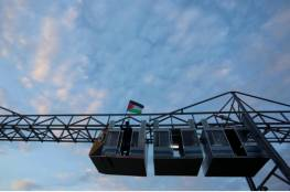 بالصور.. افتتاح أول قطار معلق في قطاع غزة