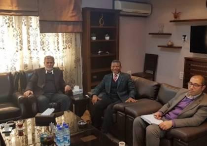 النخالة يلتقي سفير جنوب افريقيا وهذا ما بحثاه..
