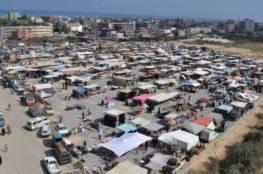 الشرطة تتخذ عدة اجراءات بخصوص سوق النصيرات وسط قطاع غزة