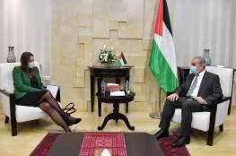 اشتية يبحث مع القنصل السويدي الإطار العام للدعم المقدم لفلسطين