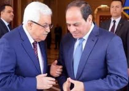تفاصيل الاتصال الهاتفي بين الرئيس عباس ونظيره المصري...