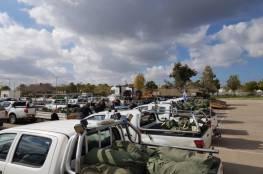 بالصور: حراس الأمن في غلاف غزة يسلمون مركباتهم ومعداتهم.. لهذا السبب