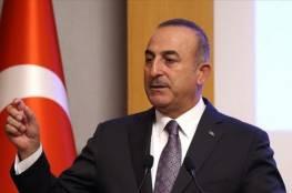 """""""أوغلو"""" يؤكد رفض تركيا لخطة الضم الإسرائيلية"""