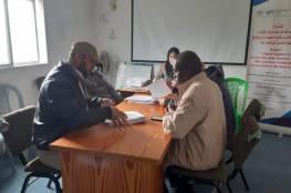 فرز طلبات المرشحين لمشروع الدعم العاجل لمزارعي وسط القطاع