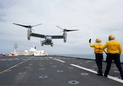 """هبوط أول طائرة """"MV-22B""""  على سطح سفينة مستشفى ( فيديو)"""