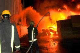 غزة: إخماد حريق شب في منزل