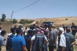 جولة لـ 120 صحافياً فلسطينياً في المناطق المهددة بالضم في الأغوار الشمالية