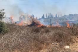"""إعلام إسرائيلي: حريق في """"أشكول"""" يُشتبه أنه بسبب بالون حارق"""