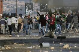 عشرات حالات الاختناق خلال قمع مسيرة بلعين الأسبوعية