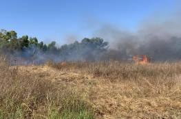 الاحتلال يخشى الارباك الليلي.. 15 حريقًا في مستوطنات غلاف غزة بفعل البالونات الحارقة