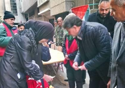 مأدبة غداء لأطفال مخيم اليرموك بمناسبة عيد الميلاد المجيد