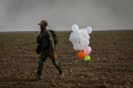 """الاحتلال يزعم اندلاع الحرائق في """"غلاف غزة"""" بفعل البالونات"""