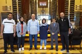 المنتخب النسوي وصل الى المنامة للمشاركة في بطولة غرب اسيا