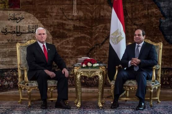 السيسي لنائب الرئيس الأميركي :مصر تدعم حق الفلسطينيين في إقامة دولتهم وعاصمتها القدس الشرقية