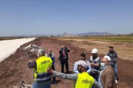 الرجوب يتفقد سير العمل في مشروع منطقة جنين الصناعية الحرة