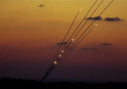 شاهد : لحظة انطلاق الصواريخ فجر اليوم من قطاع غزة نحو اسدود