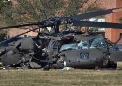 مصرع 4 جنود اتراك في حادث سقوط مروحية عسكرية