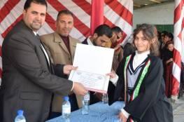 رئيس بلدية رفح يكرم أطفال المدينة الموهوبين