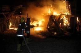 غزة: السيطرة على حريق كبير في مكب جحر الديك
