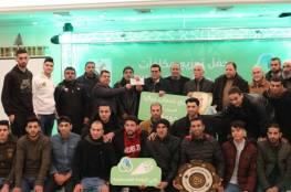 """نادي خدمات جباليا يتوج بطلاً لدوري """"جوال"""" لكرة الطائرة"""