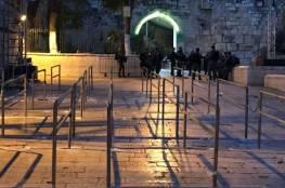 الاحتلال يشرع بتركيب كاميرات ذكية في باب الأسباط بالقدس