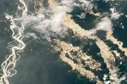 أنهار من الذهب..صورة التقطتها محطة الفضاء الدولية تكشف ما يحدث في الأمازون