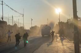 الاحتلال يقمع مظاهرة في حي الشيخ جراح