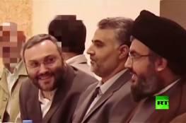 شاهد: فيديو ينشر للمرة الأولى لنصر الله وسليماني وعماد مغنية