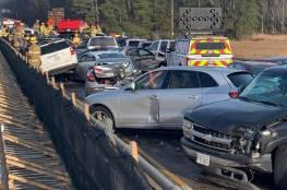 اصطدام 63 مركبة في حادث بولاية فرجينيا الأمريكية